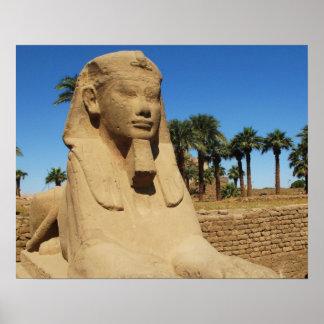 Imagen del viaje de la esfinge de Egipto antiguo Póster