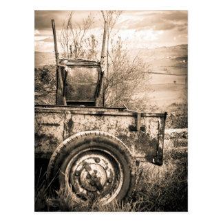 Imagen del viaje del vintage del campo italiano, r postales