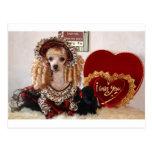 Imagen del Victorian del perro del amor de la tarj Tarjetas Postales
