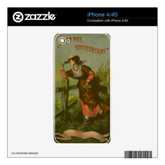 Imagen del vintage Amor de despedida Skins Para eliPhone 4S