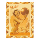 Imagen del vintage, campos del día de fiesta de Bu Tarjetas Postales