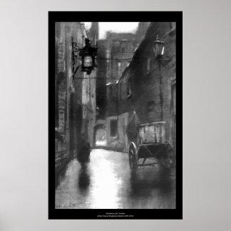 Imagen del vintage - cárcel de Marshalsea, Londres Poster
