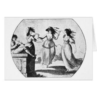 Imagen del vintage: Criadas del baile Tarjetas