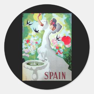 Imagen del vintage de España Pegatina Redonda