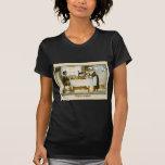 Imagen del vintage de la reproducción, cena del pe camisetas