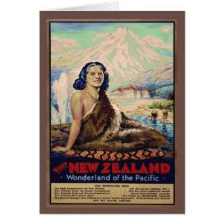 Imagen del vintage de la reproducción, poster del tarjeta de felicitación