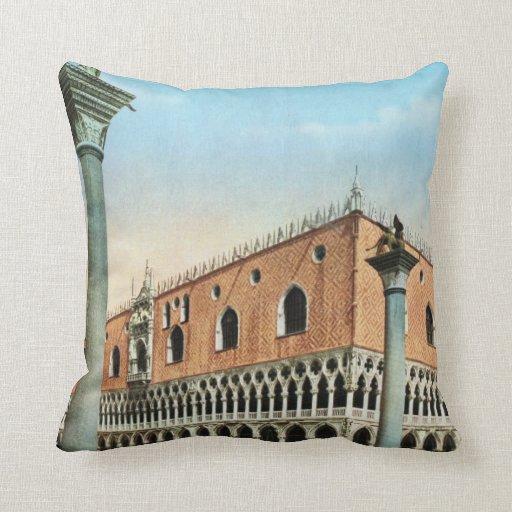 Imagen del vintage de la reproducción, Venecia 191 Almohada
