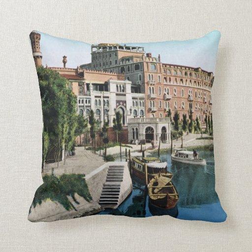 Imagen del vintage de la reproducción, Venecia 191 Cojines
