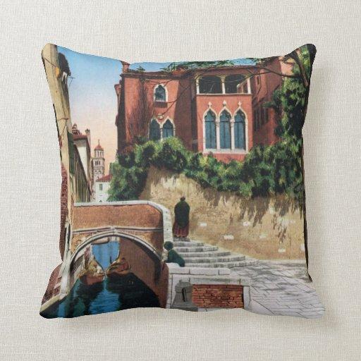 Imagen del vintage de la reproducción, Venecia 191 Almohadas