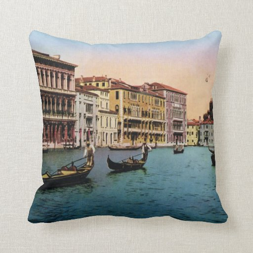 Imagen del vintage de la reproducción, Venecia 191 Cojin