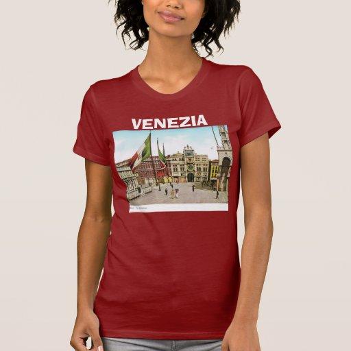 Imagen del vintage de Venecia, Italia, 1910 Camisetas