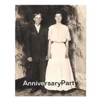 Imagen del vintage del aniversario del marido y de invitacion personal