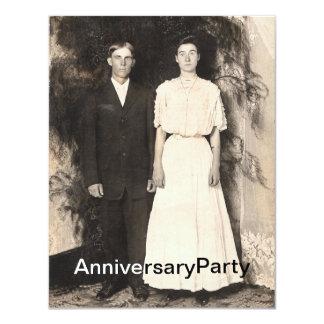 """Imagen del vintage del aniversario del marido y de invitación 4.25"""" x 5.5"""""""