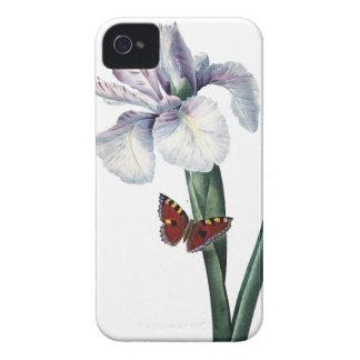 Imagen del vintage del iris y de la mariposa por funda para iPhone 4 de Case-Mate