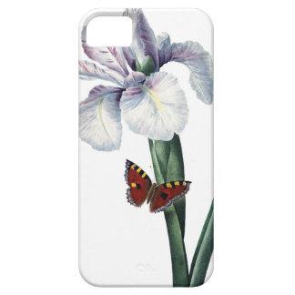 Imagen del vintage del iris y de la mariposa por funda para iPhone SE/5/5s
