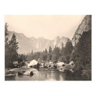 Imagen del vintage del parque nacional de Yosemite Postal