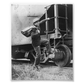 Imagen del vintage del tren de la tolva cojinete