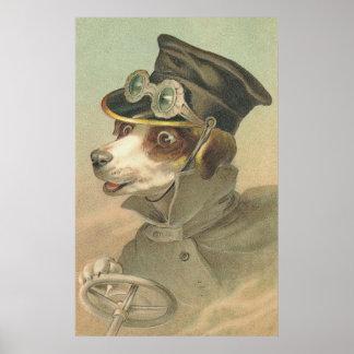 Imagen del vintage - el conductor del perrito poster