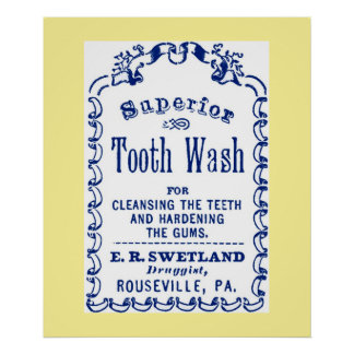 Imagen del vintage en el poster dental de la higie