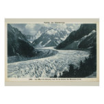 Imagen del vintage, Francia, Chamonix, Mont Blanc Impresiones