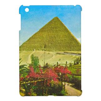 Imagen del vintage, gran pirámide en Giza