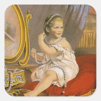 Imagen del vintage Perla del Oriente Colcomanias Cuadradass