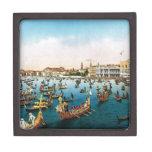 Imagen del vintage, regatta 1910 de Venecia Caja De Regalo De Calidad