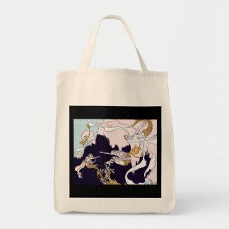 Imagen del vintage - sirenas en el juego bolsa tela para la compra