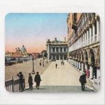 Imagen del vintage, Venecia histórica Tapetes De Ratón