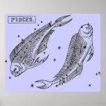 Imagen del vintage - zodiaco - Piscis Impresiones