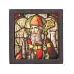 Imagen del vitral del vintage de San Patricio Cajas De Regalo De Calidad