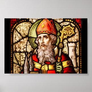 Imagen del vitral del vintage de San Patricio Posters