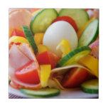 Imagen deliciosa de la comida de la ensalada de la tejas