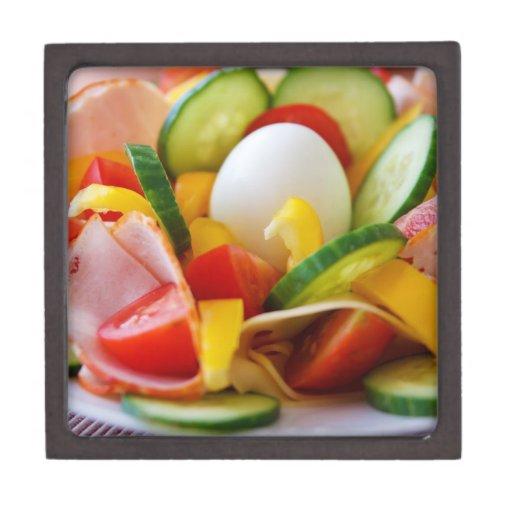 Imagen deliciosa de la comida de la ensalada de la cajas de recuerdo de calidad