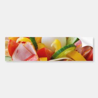 Imagen deliciosa de la comida de la ensalada de la pegatina para auto