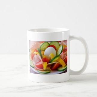 Imagen deliciosa de la comida de la ensalada de la tazas de café