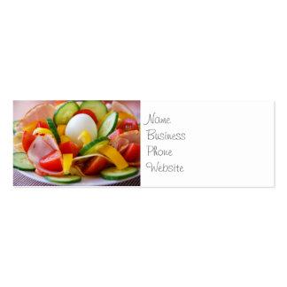 Imagen deliciosa de la comida de la ensalada de tarjetas de visita mini