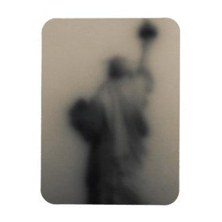 Imagen difundida de la estatua de la libertad imán foto rectangular