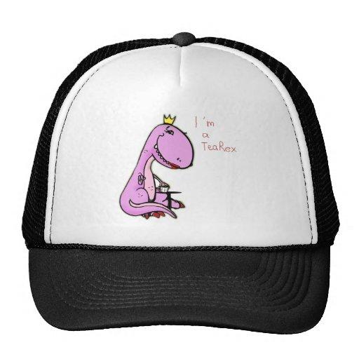 imagen divertida de un dinosaurio rosado TeaRex Gorra