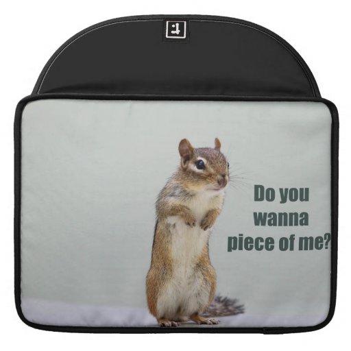 Imagen divertida del Chipmunk Funda Para Macbook Pro