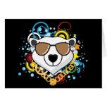 Imagen divertida del oso polar del hip-hop felicitacion
