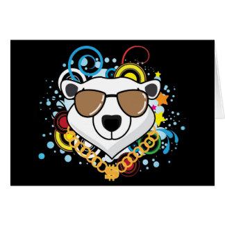 Imagen divertida del oso polar del hip-hop tarjeta de felicitación