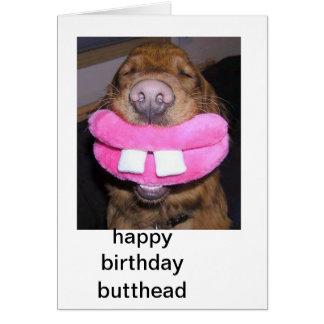imagen divertida del perro tarjeta de felicitación