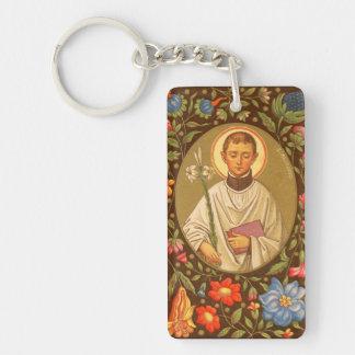 Imagen doble del St. Aloysius Gonzaga (P.M. 01) Llavero Rectangular Acrílico A Doble Cara