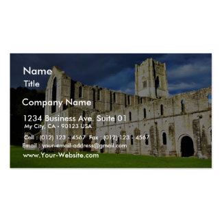 Imagen dramática de la abadía de las fuentes justo plantillas de tarjeta de negocio