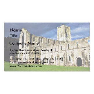 Imagen dramática de la abadía de las fuentes justo tarjeta de visita
