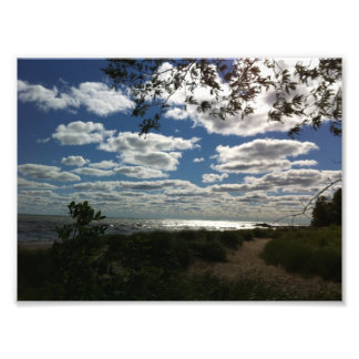 Imagen dramática del lago Michigan Arte Fotografico