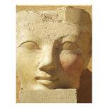 Imagen egipcia del pharaoh de la mujer de Hatsheps Plantilla De Membrete