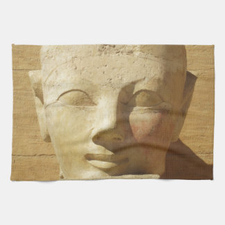 Imagen egipcia del pharaoh de la mujer de Hatsheps Toalla