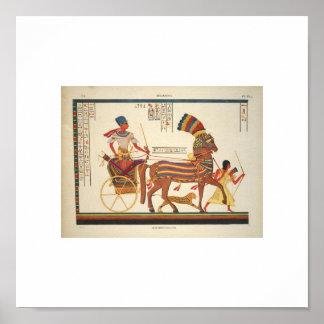 Imagen egipcia rara 1835 póster